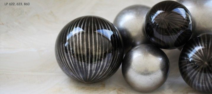 Grey Decorative Balls by Miss GVL