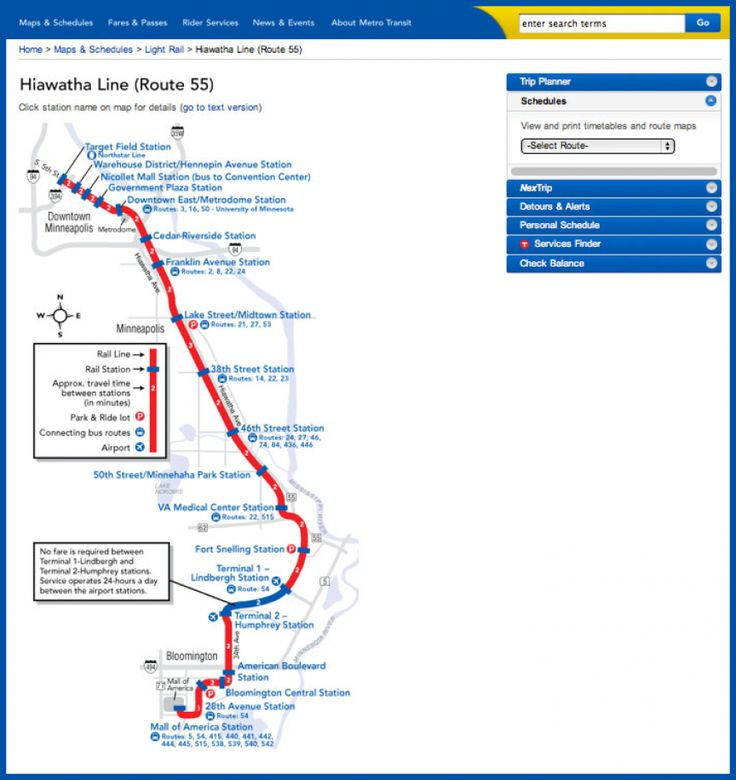 Seattle Light Rail Schedule Map