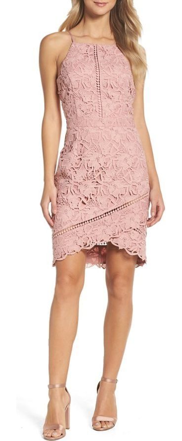 lace sheath dress by Adelyn Rae. The classic sheath goes contemporary with floral lace, laddered insets and a wrapped asymmetrical skirt. Style Name: Adelyn Rae Lace Sheath Dress. Style Number: 5357248 1. Available in stores. #adelynrae #dresses