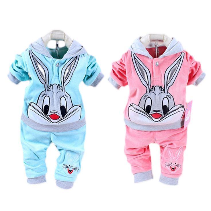 Одежда для младенцев комплект зима коралл бархат младенцы спорт костюм одежда комплект длинный рукав хлопок девочки-младенцы одежда