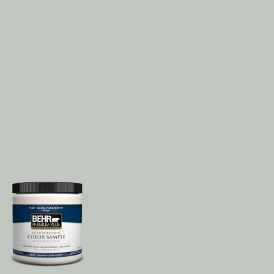BEHR Premium Plus Contemplation # 700E-3 This is the wall colour. Moody but pretty. Looks blue or green or grey depending on the light.