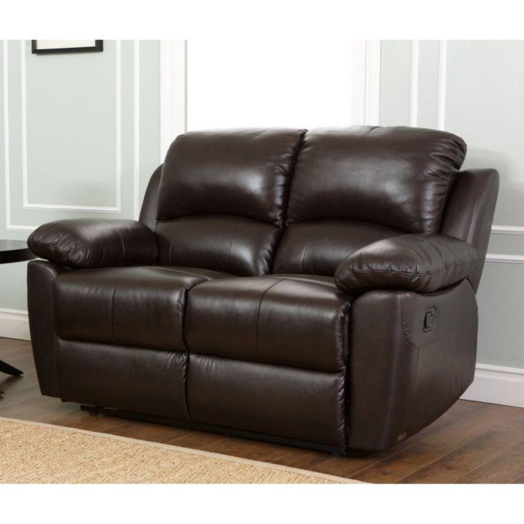 Abbyson Western Top Grain Leather Reclining Loveseat - Brown - SK-1706-BRN-2