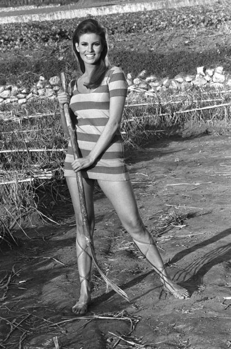 Raquel Welch. Just a farm girl.