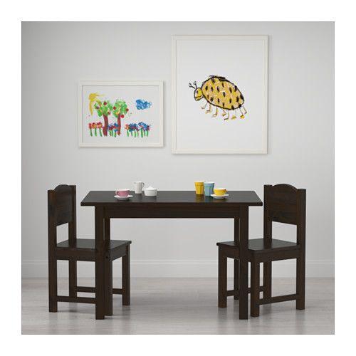 SUNDVIK Children's table, black-brown 29 7/8x19 5/8