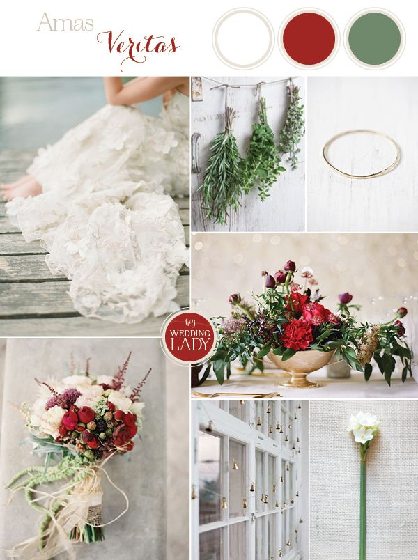 True Love Spell with Enchanting Practical Magic Wedding Inspiration in White, Rose Red, and Green