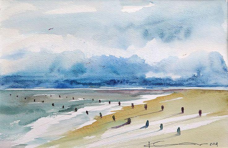 Katarzyna Gauer  - obrazy akwarela - morskie pejzaże