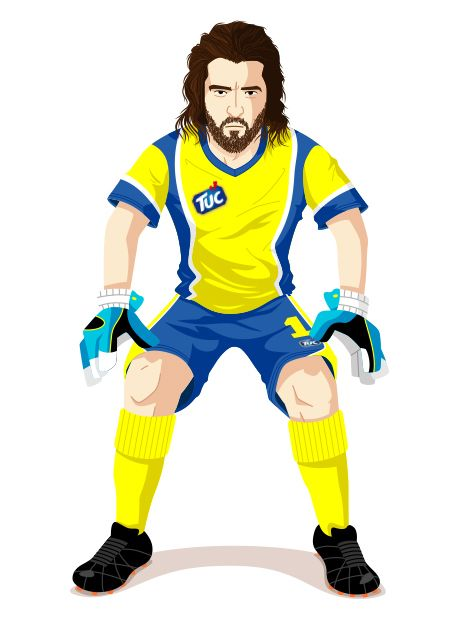Frank Original – Character Design for the TUC soccer game