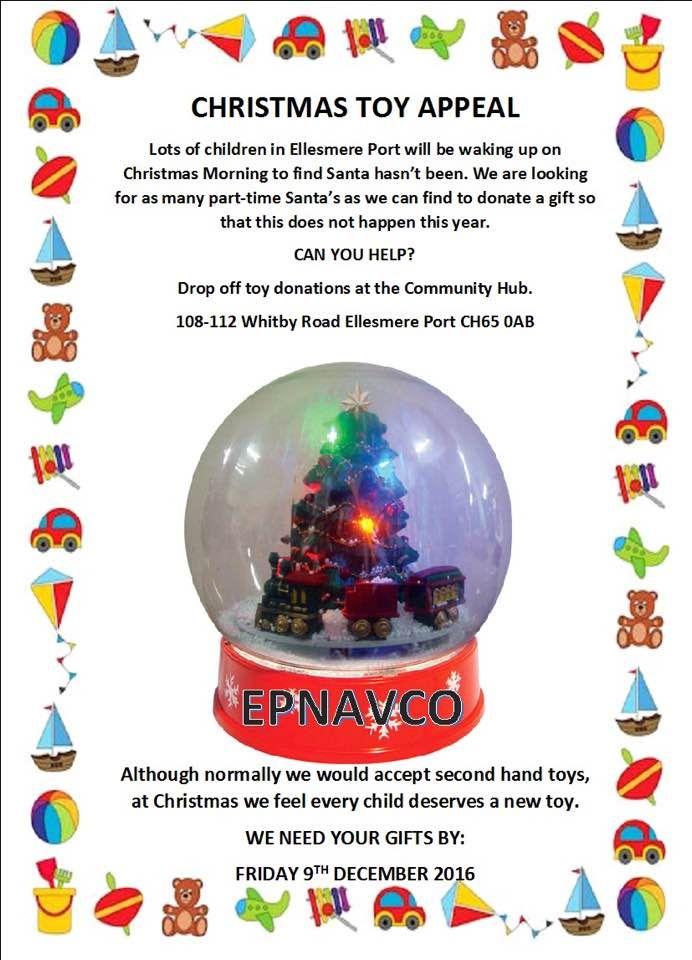 Christmas Toy Appeal #EllesmerePort.