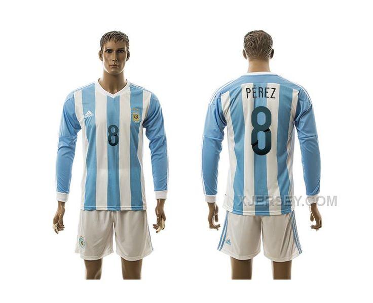 http://www.xjersey.com/argentina-8-perez-home-2016-copa-america-centenario-2016-copa-america-centenario-long-sleeve-soccer-jersey.html ARGENTINA 8 PEREZ HOME 2016 COPA AMERICA CENTENARIO 2016 COPA AMERICA CENTENARIO LONG SLEEVE SOCCER JERSEY Only $35.00 , Free Shipping!