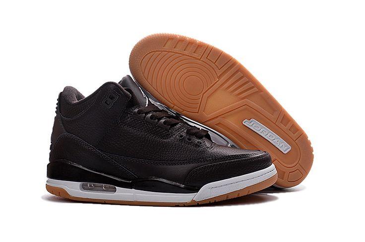 2017 New Air Jordan 3 Black Brown White Shoes
