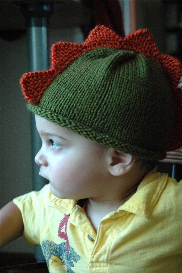 Dinosaur Gloves Knitting Pattern : 1000+ ideas about Dinosaur Hat on Pinterest Crochet Dinosaur Hat, Crochet D...