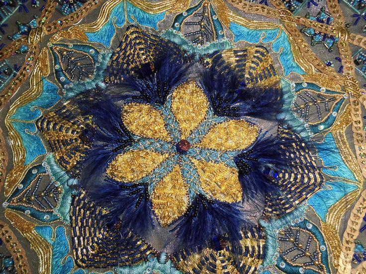 goldwork mandala #hand embroidery