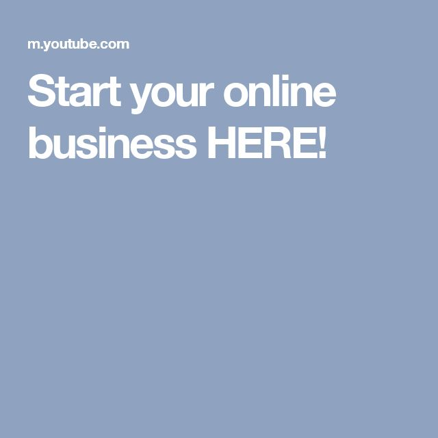 Start your online business HERE!