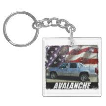 2013 Avalanche LS Double-Sided Square Acrylic Keychain