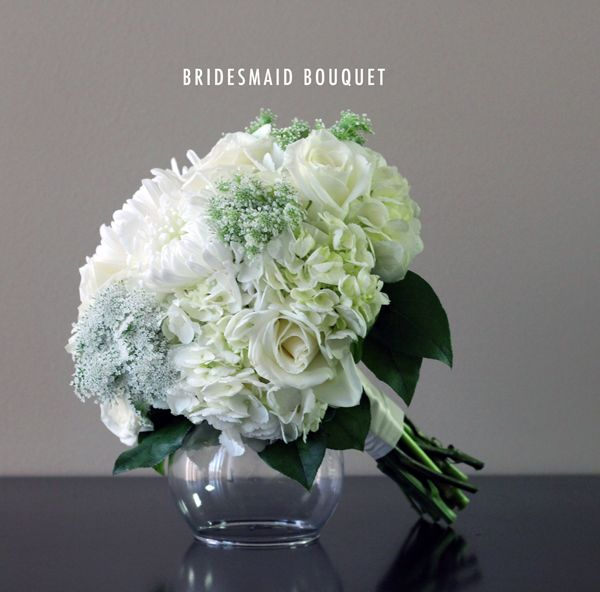 Bridal White Bridesmaid Bouquet from Bridal Flowers to Go! Wedding Flowers in Houston, TX http://www.bridalflowerstogo.com