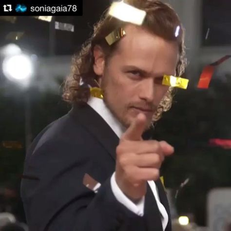 Sam at the Golden Globes. Awesome gif! Click through....