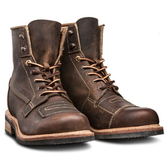 The Timberland Boot Company® Smuggler's Notch boots are inspired by what Prohibition-era bootleggers wore.