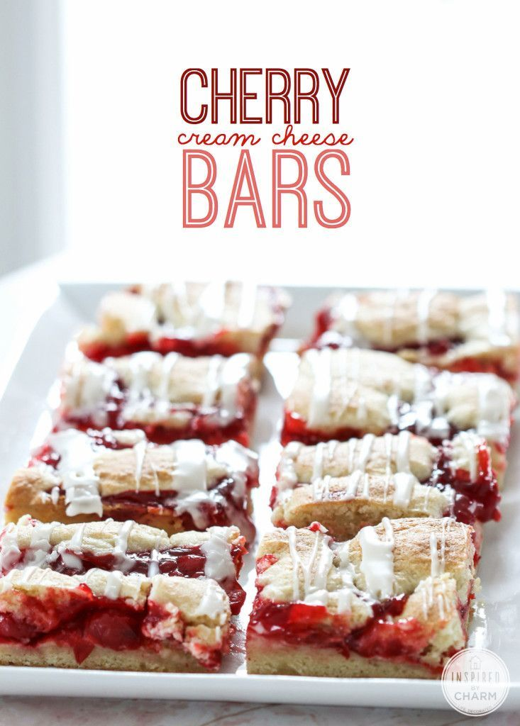 Cherry Cream Cheese Bars - seriously dying for these! So delicious!