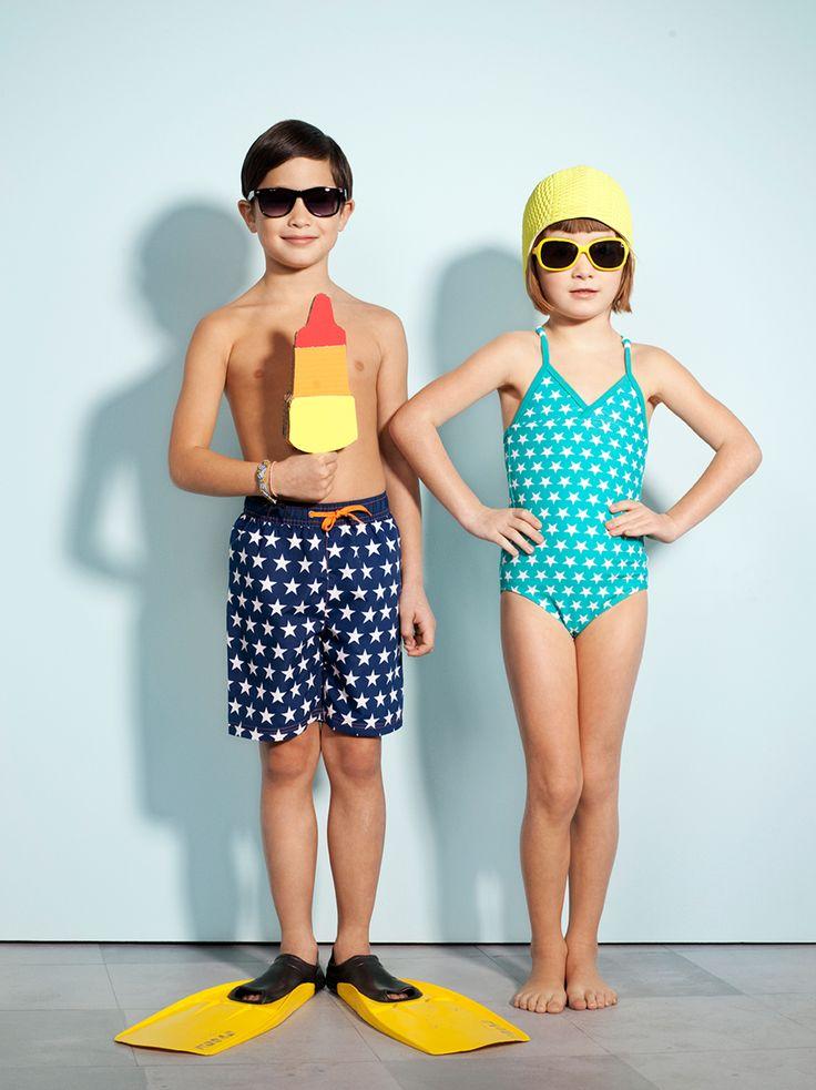Badkleding voor kinderen. Zeeman zomercollectie 2014.