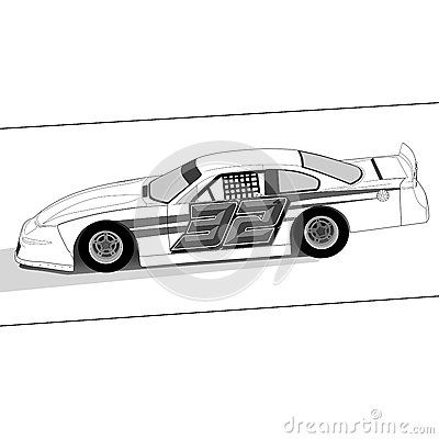 Illustration nascar with paint number