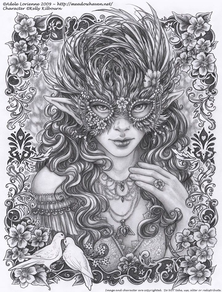 Masquerade: Wild Rose by Saimain on deviantART