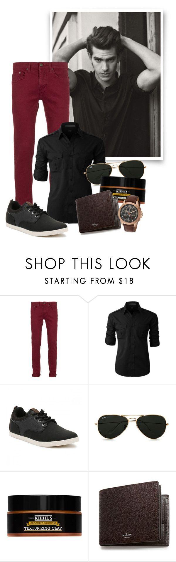 """Andrew Garfield"" by fashion-film-fun ❤ liked on Polyvore featuring Topman, LE3NO, Jack & Jones, Kiehl's, Mulberry, Michael Kors, men's fashion and menswear"
