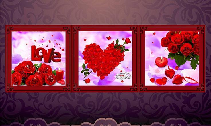 Goedkope 5d diy kruissteek schilderij diamant bloemen borduurwerk home decoration taal van de liefde bruiloft decoratieve drieluik 55* 55cm, koop Kwaliteit naaien gereedschap en accessoires rechtstreeks van Leveranciers van China: 5d diy kruissteek schilderij diamant bloemen borduurwerk home decoration taal van de liefde bruiloft decoratieve drielui