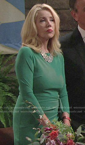 368c9389e51 Nikki s green dress at Sharon s wedding on The Young and the Restless