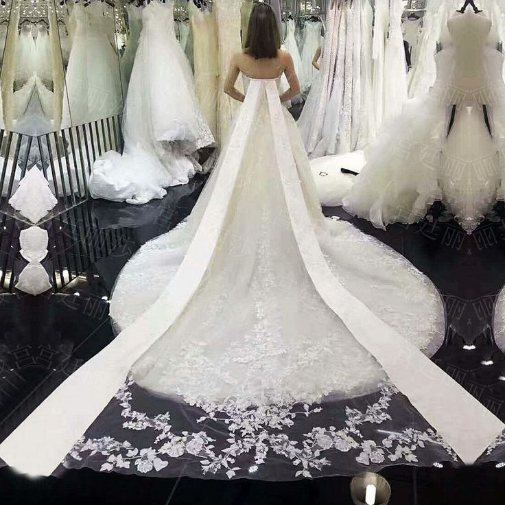 Awesome Find More Wedding Dresses Information about Luxury Cathedral Train Sexy Ball Gown Sweetheart Applique Lace Wedding