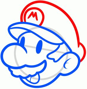 how to draw mario easy step 6 luke u might like this although u probly dont need the steps