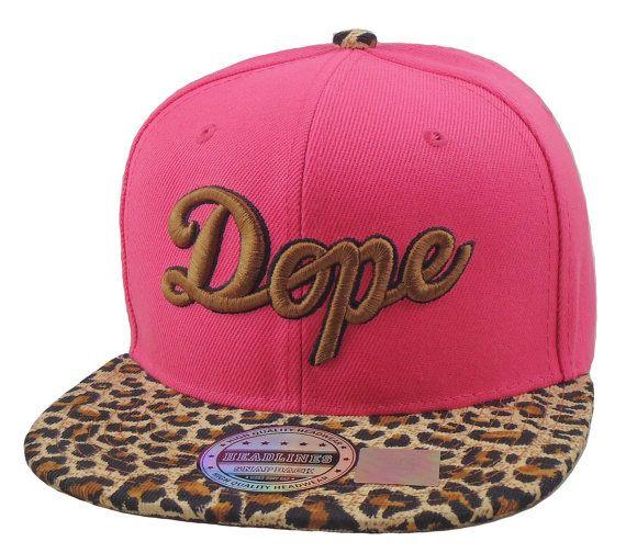 Flat Bill Snapback  Hat  3D DOPE Hip Hop Pink by DaisysOutlet, $22.00