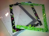 Need some super cute and easy dry erase boards for your class? They can be used over and over again all year long with simple dry erase markers and old rags to wipe off!             Items to Gather:clear report covers  plain or patterned duct tape or packing tape  Optional:  o-ring, hole punch, small cleaning rag