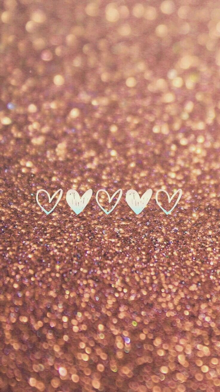 Fondo dorado de corazon