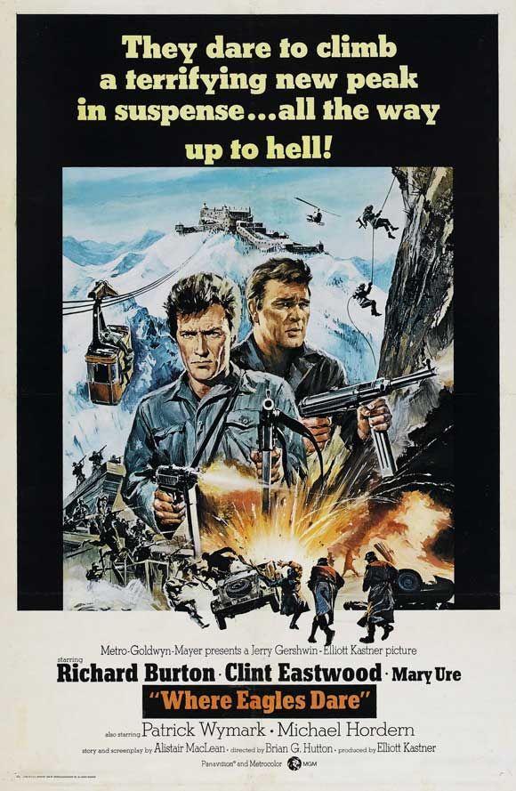 Where Eagles Dare (1968) Richard Burton, Clint Eastwood, Mary Ure, Patrick Wymark