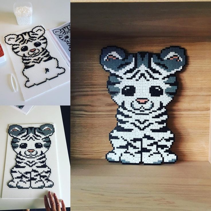Tiger hama beads by konggaard_