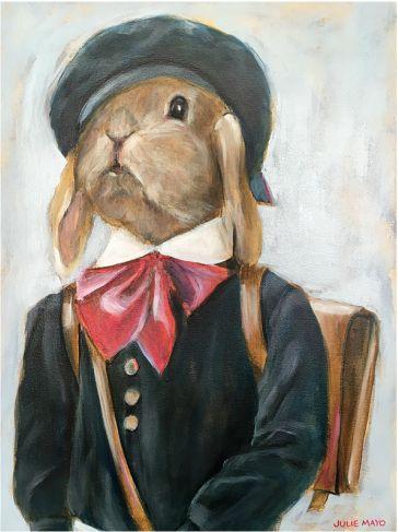 'School bag Bunny' - Oil on Canvas - AVAILABLE