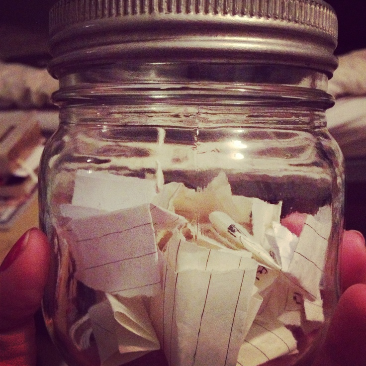 Memories of 2013 in a jar ! Can't wait to read it on New Year's Eve !
