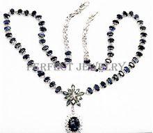 Collar de zafiro Envío Libre Real natural blue sapphire 925 0.35ct * 60 unids, $ number ct * 10 unids, 1.55ct * 1 unid gemas(China)