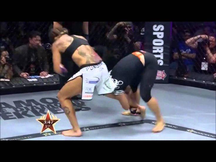 "Cristiane ""Cyborg"" Santos vs Fiona Muxlow [full fight] - Invicta FC 5. HDTV"