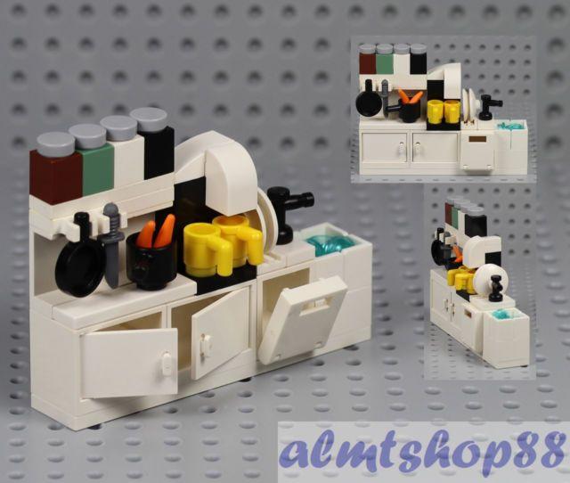 Lego Kitchen Cupboard W Sink Dishwasher Coffee Maker