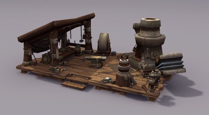 The Art of Eric Braddock World of Warcraft: Warlords of Draenor, Garrison Blacksmith props