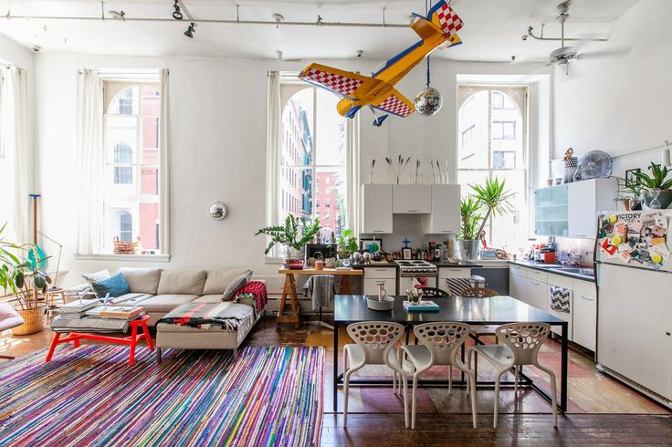 25 Of The Most Beautiful Spaces We Saw In 2015 #refinery29  http://www.sixhourburn.r29.com/most-beautiful-spaces-2015#slide-19  PJ Mattan's pristine yet playful downtown loft....
