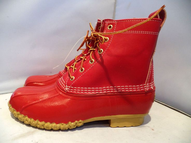 US $159.99 New with defects in Clothing, Shoes & Accessories, Men's Shoes, Boots Red L.L.Bean boots.