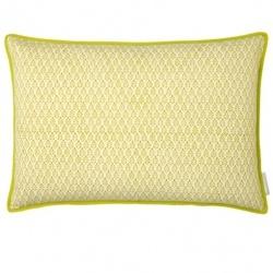 Bungalow yellow printed cushion