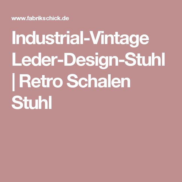 Industrial Vintage Leder Design Stuhl | Retro Schalen Stuhl