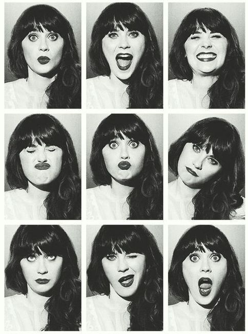 """Zoe Deschanel is flawless """"says snapping fingers in z formation"""""""