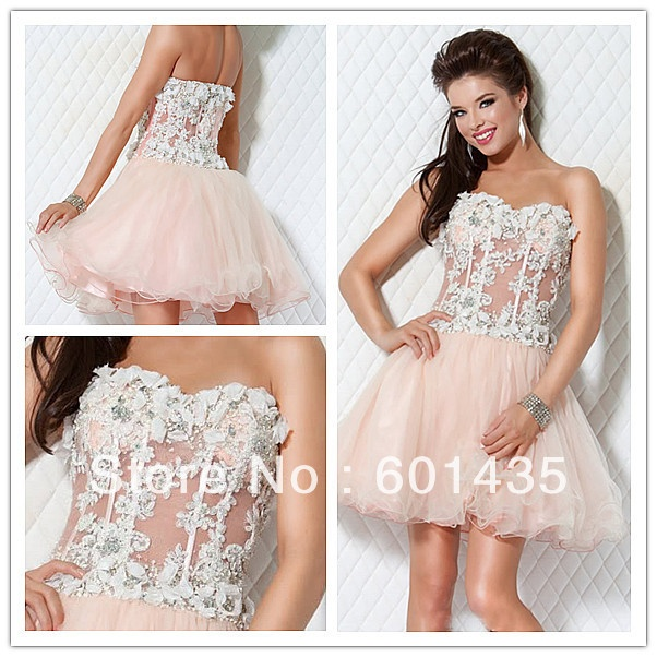 Wr2008 Sparkingly Sweetheart See Through Corset Y Short Wedding Dresses On Aliexpress 15