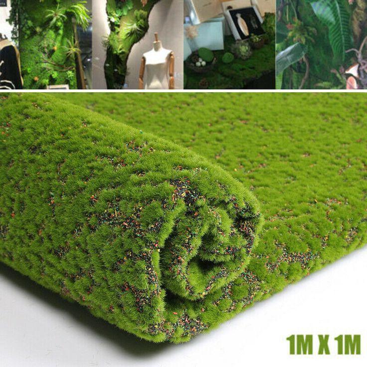 100cm Miniature Fake Artificial Grass Moss Lawn Craft Plant