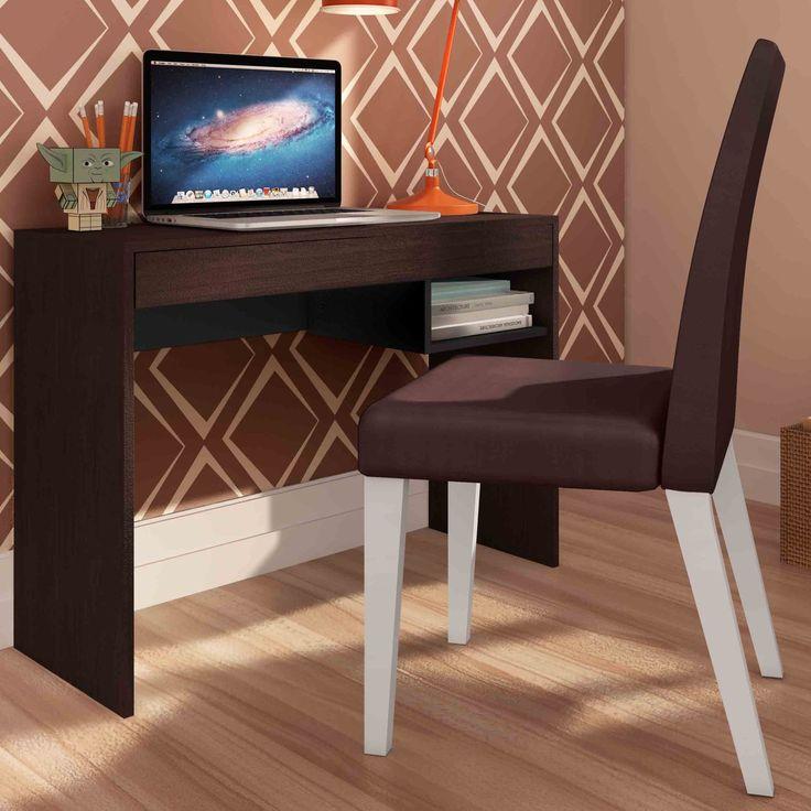 Escrivaninha é essencial para garantir conforto e deixar o espaço organizado na hora de estudar e trabalhar.