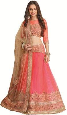 Buy Meena Bazaar Self Design Women's Lehenga Choli Online at Best Prices In India | Flipkart.com